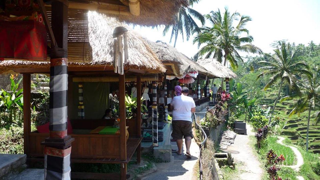 Restaurants avec vue sur la rizière de Tegalalang, Ubud